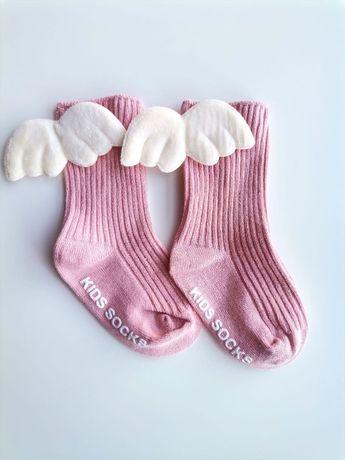 Носки детские с крыльями ангела, 6-12 мес., длина стопы 10-12см