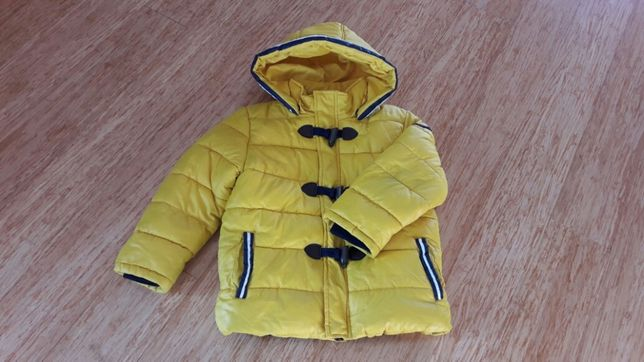 Kurtka zimowa MAYORAL - 116 - żółta, puchowa, jaskrawa. Jak NOWA!