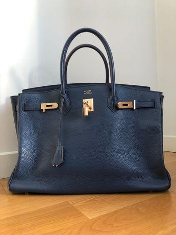 Hermes birkin 40 azul marinho