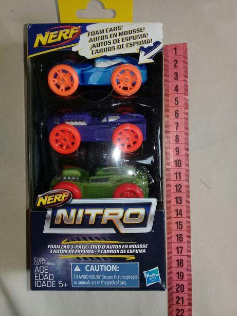 Машинки Нерф Нитро Nerf Nitro Foam Car 3-Pack Оригинал Hasbro