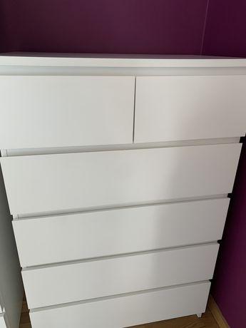 Cómoda IKEA MALM 6 gavetas branca
