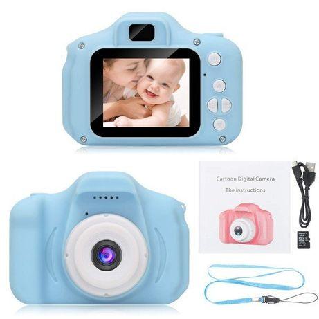 Детский цифровой фотоаппарат GM14 Kids Camera голубой+розовый