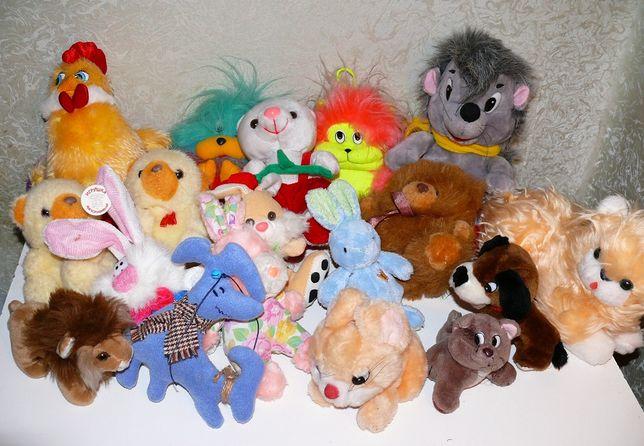 Детская мягка игрушка - заяц, кот, мишка плюшевый, ежик брелок, лев