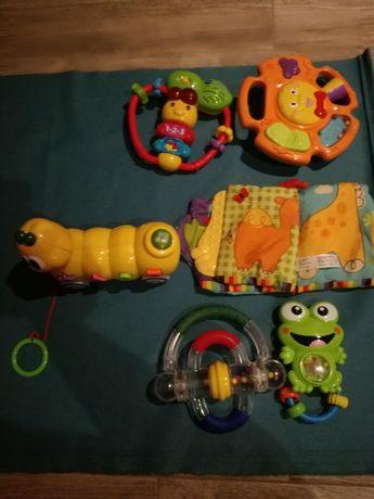 Zabawki dla niemowląt 6szt.+gratis grzechotki