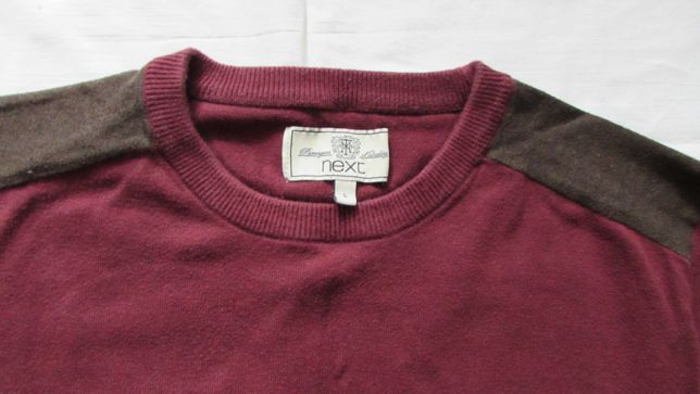 Sweter meski NEXT L bordowy