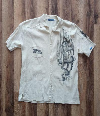 Męska koszula krótki rękaw
