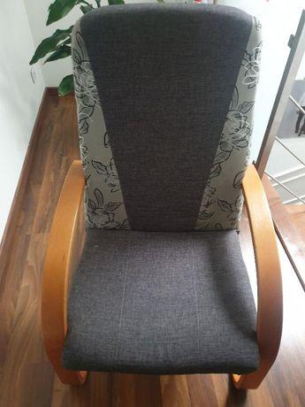 Fotel bujany szary