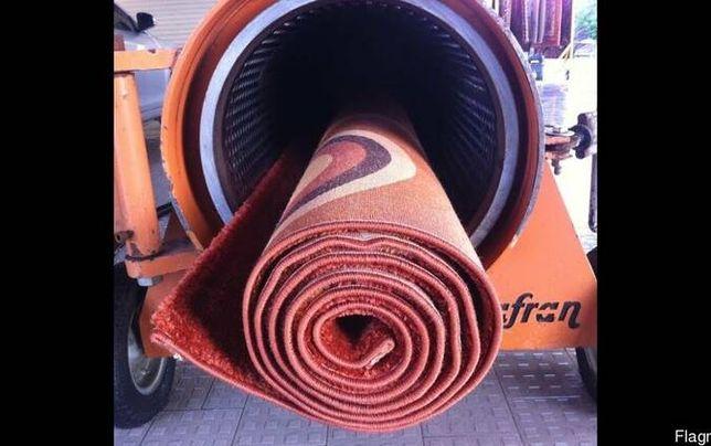 Стирка ковров с вычесыванием и отжимом в центрифуге