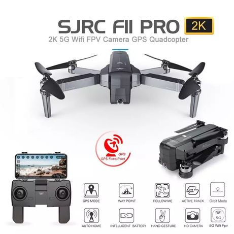 Квадрокоптер SJRC F11 PRO 25мин 5G Wi-Fi дрон FPV Камера HD Дист 1 Км