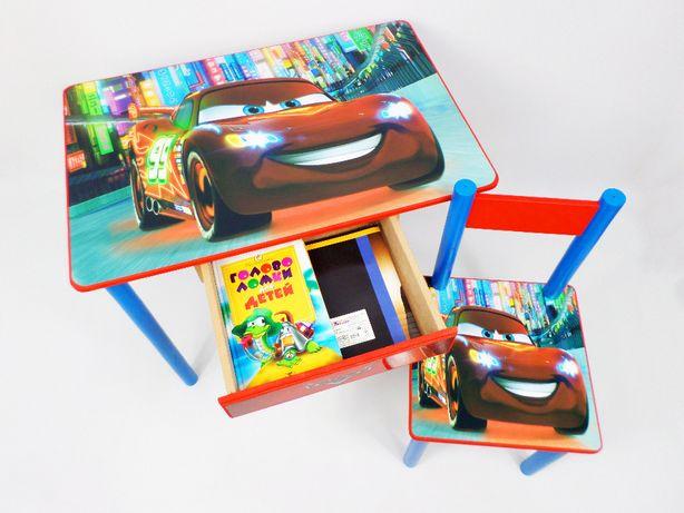 """Детский столик и стул """"Тачки Маквин"""" (стол-парта стульчик) от1 до7 лет"""