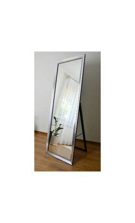 Duże lustro 5201 stojące 60x185 srebro lustrzane transport gratis