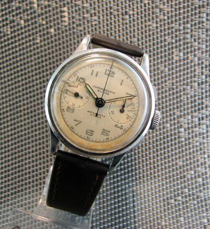 WW2 Chronograf Chronographe SUISSE ..17 Jewels..Swiss