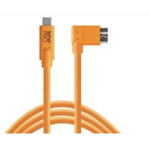 Tethertools KABEL USB-C to 3.0 Micro- B Right Angle 4,60m
