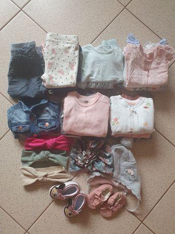Paka zestaw ubrań 62 68 dziewczynka