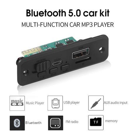 Bluetooth 5,0 Автомобильный MP3 плеер декодер плата 2x3 Вт усилитель