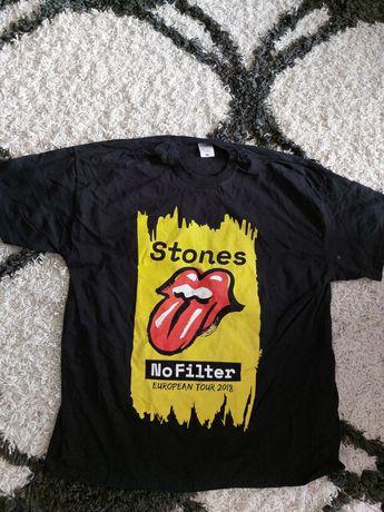 Czarna koszulka tshirt Roling Stones Nowa xl