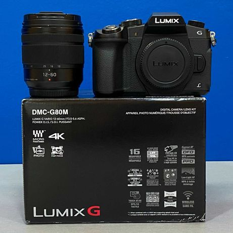 Panasonic Lumix DMC-G80 (16MP - 4K) + 12-60mm f/3.5-5.6 OIS (NOVA)