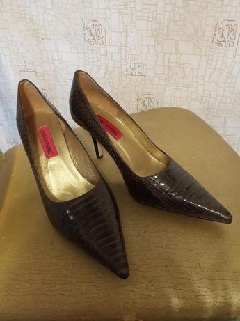 Роскошные туфельки НАТУРАЛЬНАЯ кожа змеи London Rebel