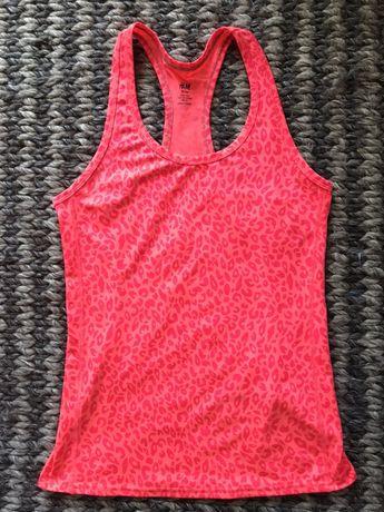 Nowy top sportowy H&M neonowy róż fitness sport