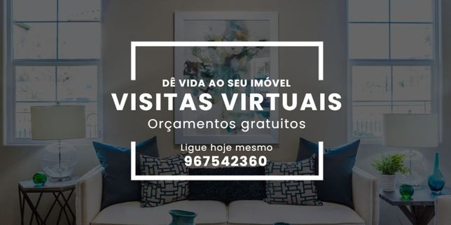 Visitas virtuais para imóveis (Visitas interactivas 360º)