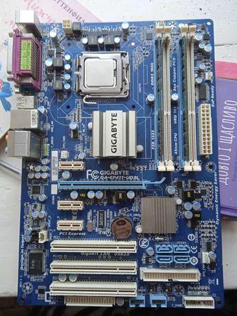 Материнская плата Gigabyte GA-EP41T-UD3L + Intel Xeon E5420