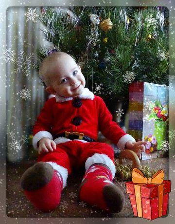Костюм Санти (санта) на хлопчика 12-18 місяців. Новий рік, новый год