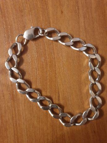 Srebrna bransoletka bransoleta pancerka pr.925