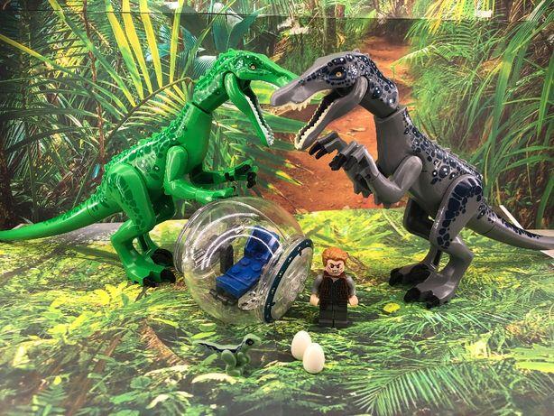 dinozaur Barionyks Jurassic World Park 28 cm z kulą lub bez, 2 kolory