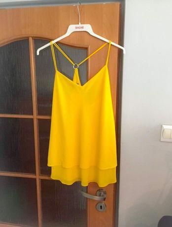 Żółta bluzka koszulka na ramiączka New look xl xxl zwiewna