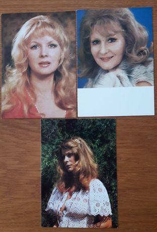 Trzy pocztówki KAW: H.Kowalska, J.Barańska, B.Zagórska
