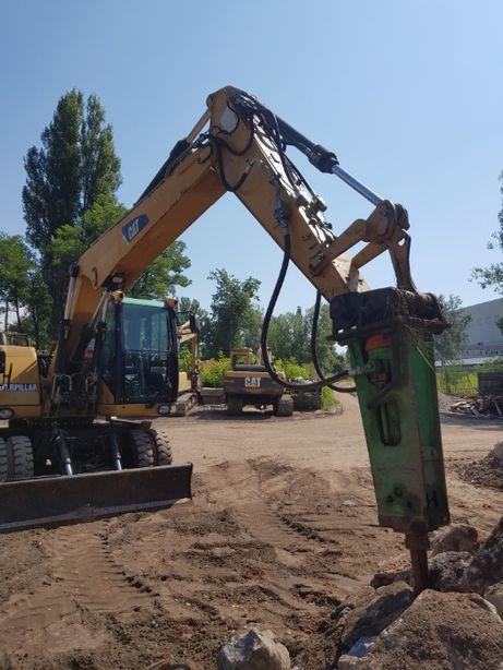 kucie betonu koparka młot hydrauliczny wyburzenia transport gruzu