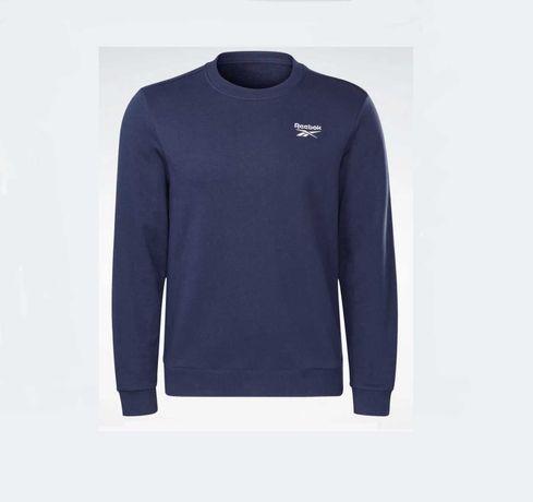 Bluza męska Reebok małe logo rozmiar L NOWA! Kolor granatowy/niebieski