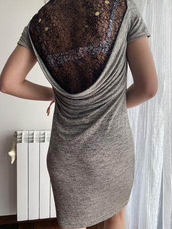 Vestido caído com renda ANA SOUSA