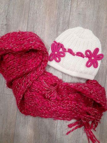 Шапка + шарф на девочку - 300руб