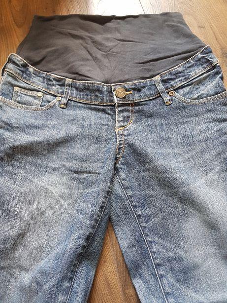 Długie spodnie ciążowe jeansy dżinsy H&M MAMA