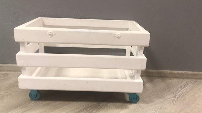Детский ящик для игрушек на колесиках