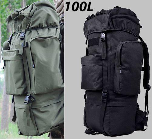 9431 Plecak wojskowy TAKTYCZNY Pojemność 100 L CZARNY / OLIWKA NOWY !