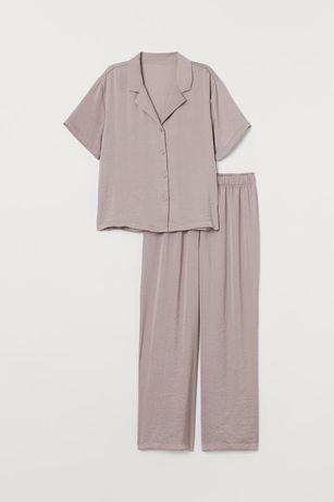 Новая сатиновая пижама комплект блуза штаны домашний костюм h&m