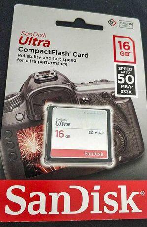 Cartão SanDisk CompactFlash 16G