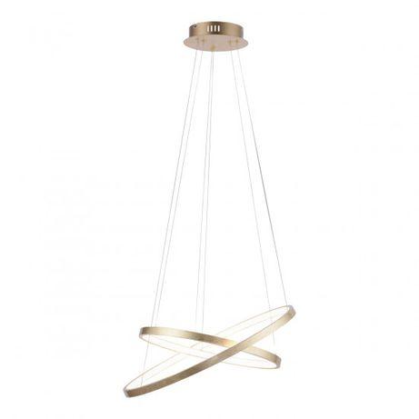 Nowość wisząca lampa LED CIRCLE dwa koła ringi złota OUTLET 11525