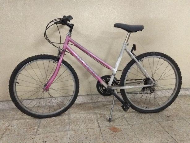 Shimano TY-10 Bike Queen com mudanças bicicleta - roda 60 cm - rosa