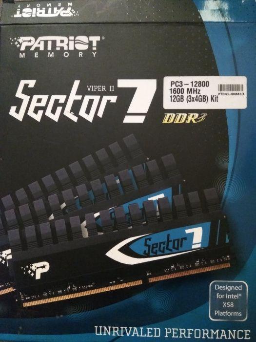 DDR3 Patriot sector7 12GB 3x4GB Triple