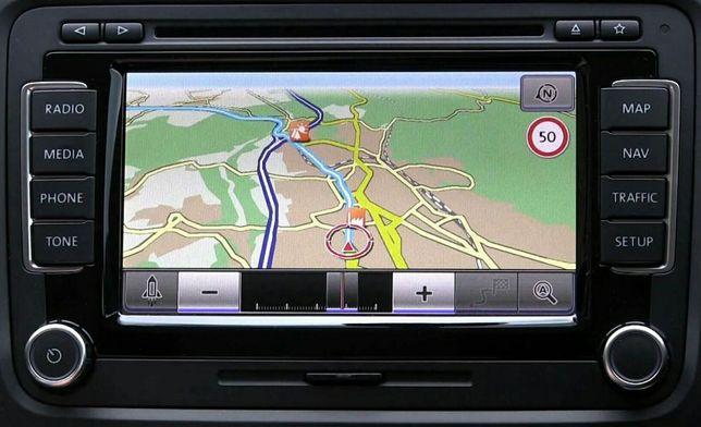 NOWOŚĆ Mapa VW Volkswagen RNS510 V17 Skoda 2020 RNS 810 Passat Touareg
