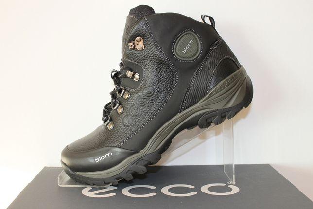 ECCO BIOM- черные (кроссовки) ботинки на меху зимние (код:9-2мех)