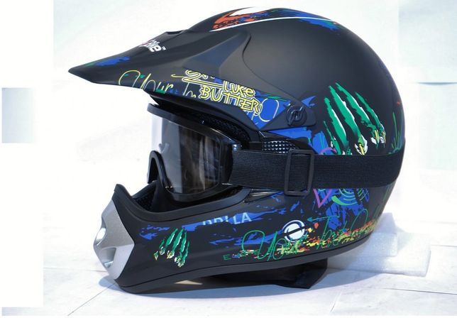 Kask Monster Cross Quad Enduro MTB +Gogle NOWY
