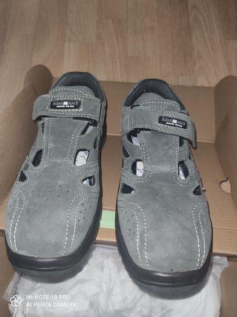 Buty-Sandały [rozm.40] robocze ADAMANT-Metalowe noski