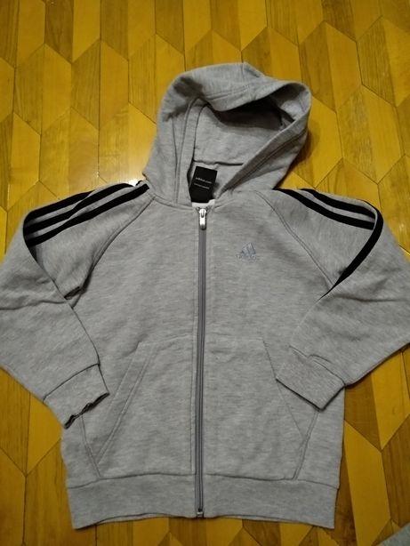 Две кофты, толстовка, худи Adidas и H&M оригинал на 6-8 лет