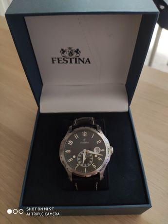 Zegarek klasyczny męski retro Festina F16486 F16486/4