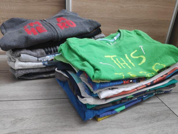 Paka ubrań dla chłopca rozmiar 110 bluza swetry spodnie koszulki