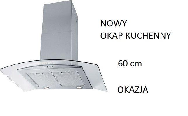 NOWY - Okap Kuchenny CIARKO Sigma 60 MAT Srebrny - NOWY okazja